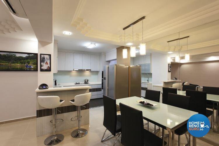 Minimalist, Scandinavian Design - Dining Room - HDB 5 Room - Design by Brilliant D Concept Pte Ltd
