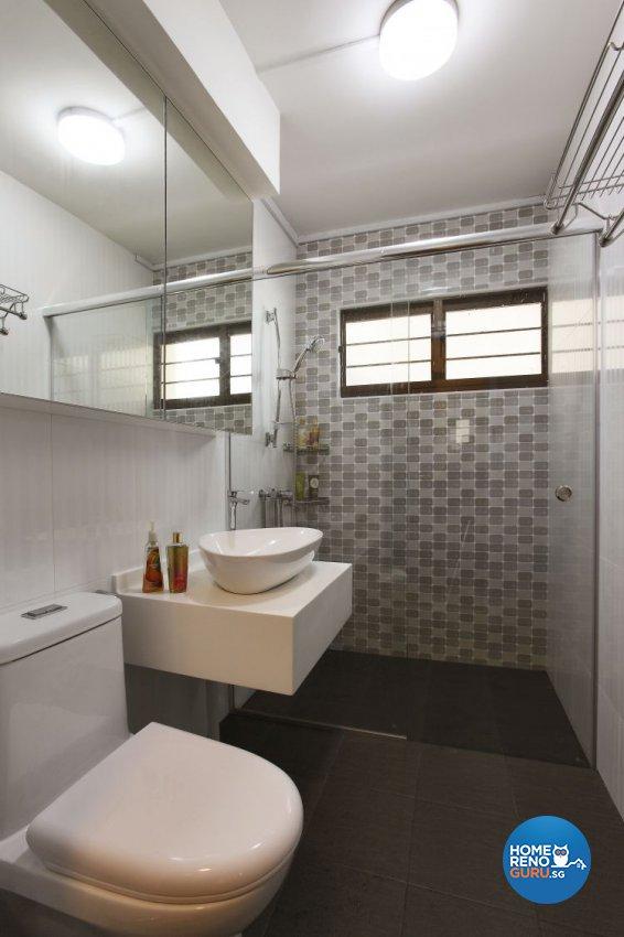 Minimalist, Scandinavian Design - Bathroom - HDB 5 Room - Design by Brilliant D Concept Pte Ltd