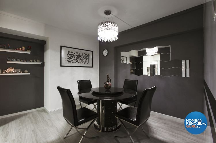 Contemporary, Modern Design - Dining Room - HDB 4 Room - Design by Brilliant D Concept Pte Ltd