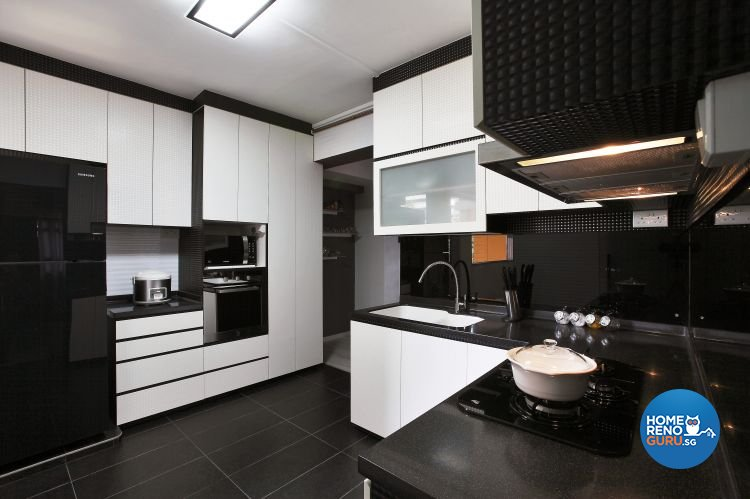 Contemporary, Modern Design - Kitchen - HDB 4 Room - Design by Brilliant D Concept Pte Ltd