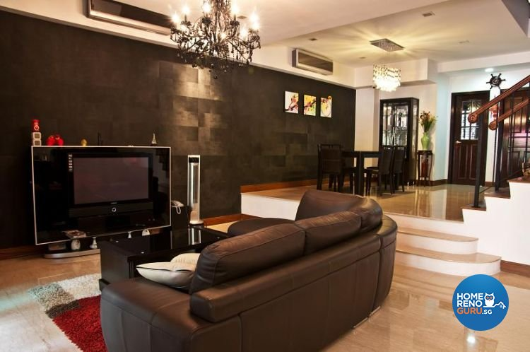 Contemporary, Modern Design - Living Room - Landed House - Design by Brilliant D Concept Pte Ltd