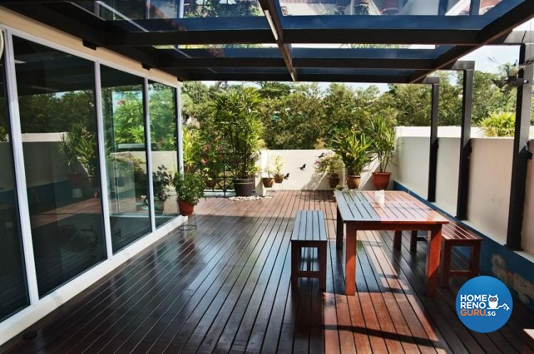 Contemporary, Modern Design - Balcony - Landed House - Design by Brilliant D Concept Pte Ltd