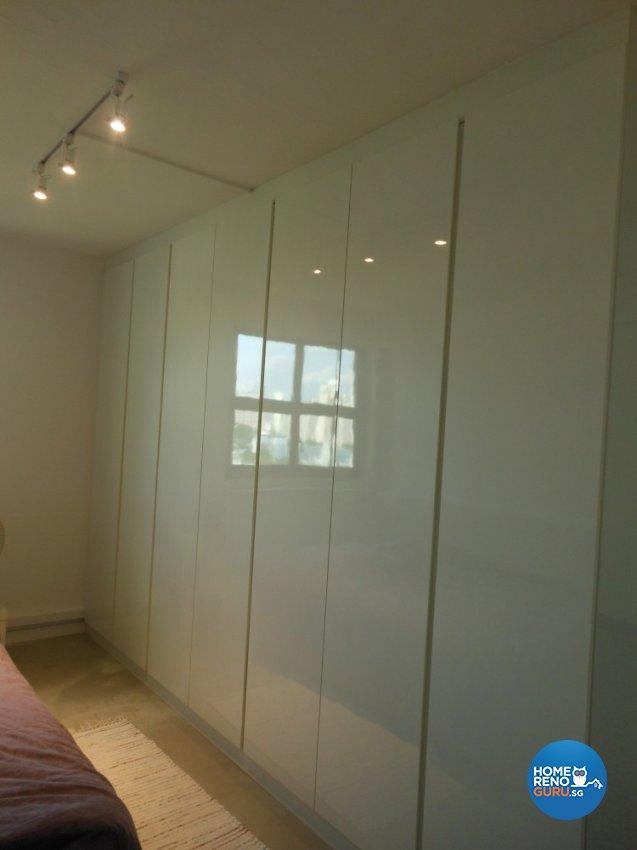 Minimalist, Retro Design - Bedroom - HDB 3 Room - Design by BuiltSpacez Design Pte Ltd