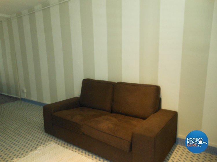 Minimalist, Retro Design - Living Room - HDB 3 Room - Design by BuiltSpacez Design Pte Ltd