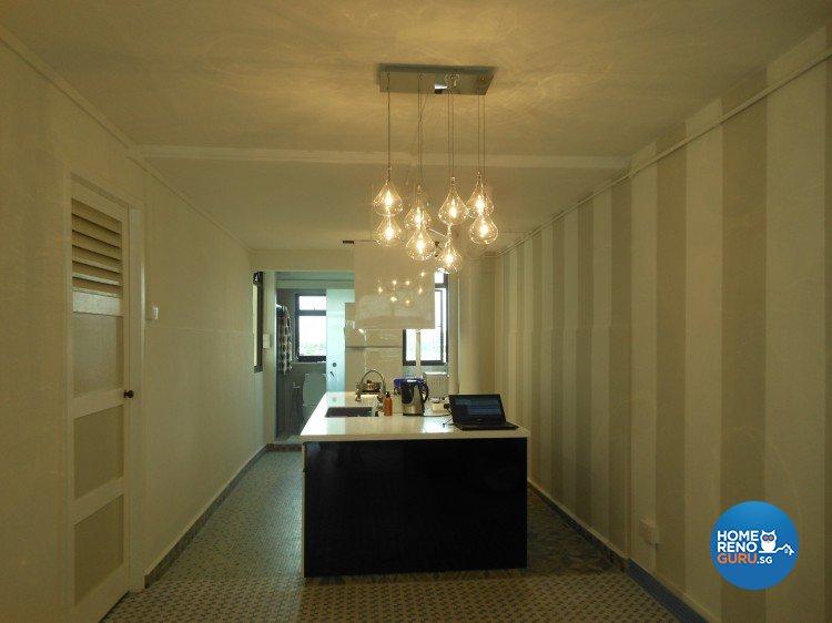 Minimalist, Retro Design - Dining Room - HDB 3 Room - Design by BuiltSpacez Design Pte Ltd