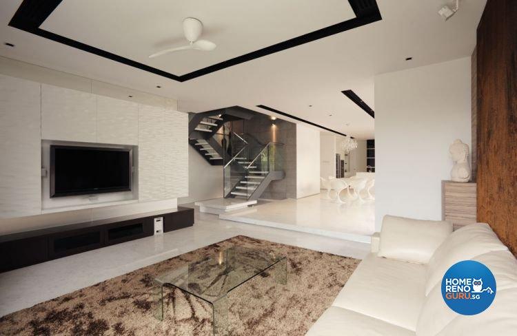 Classical, Minimalist Design - Living Room - Landed House - Design by Cactus Art Design & Furnishing Pte Ltd