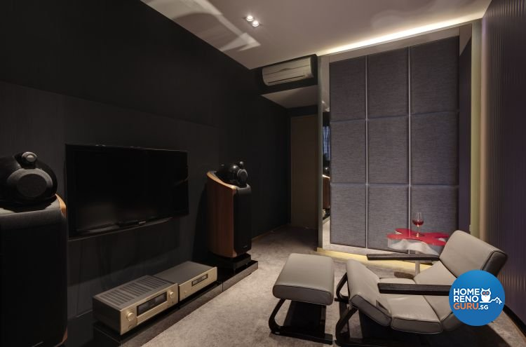 Minimalist, Modern Design - Entertainment Room - Condominium - Design by Cactus Art Design & Furnishing Pte Ltd