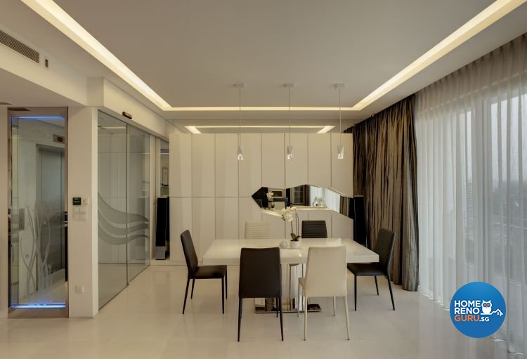 Minimalist, Modern Design - Dining Room - Condominium - Design by Cactus Art Design & Furnishing Pte Ltd