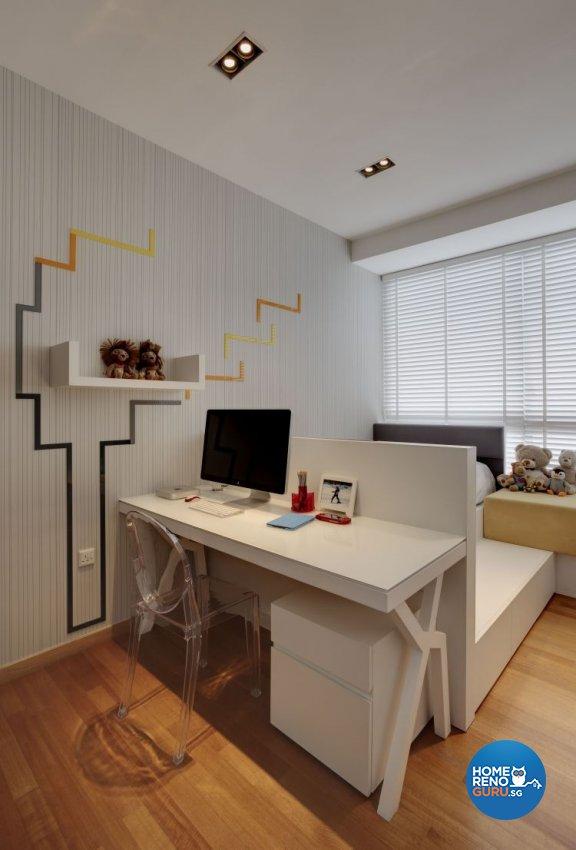 Minimalist, Modern Design - Bedroom - Condominium - Design by Cactus Art Design & Furnishing Pte Ltd