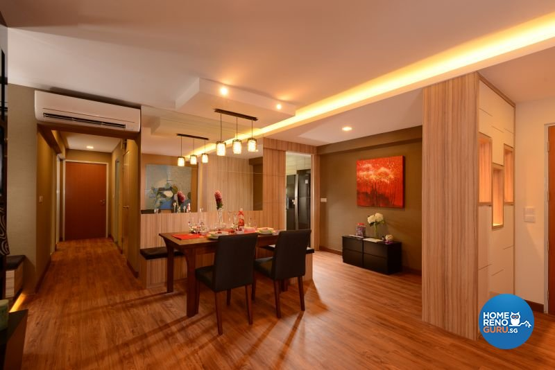 Contemporary, Modern, Resort Design - Dining Room - HDB 5 Room - Design by Cad Associates ID Pte Ltd