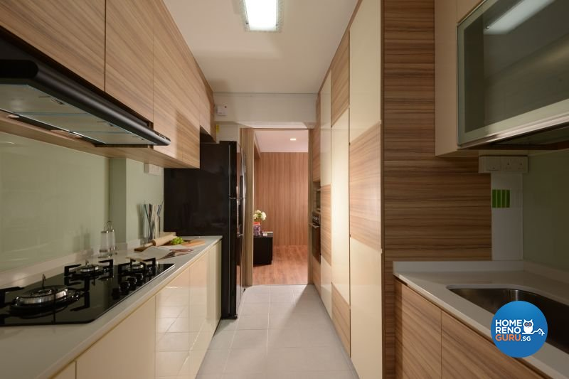 Contemporary, Modern, Resort Design - Kitchen - HDB 5 Room - Design by Cad Associates ID Pte Ltd