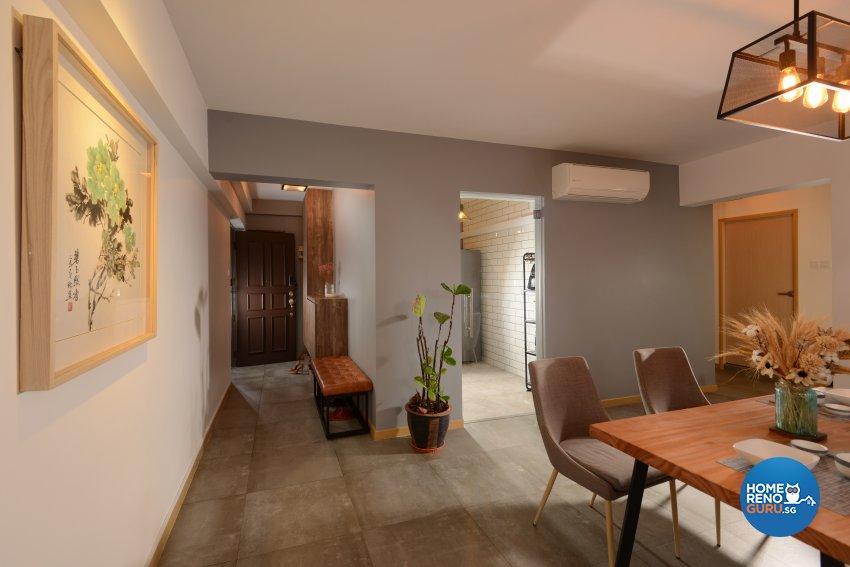 Industrial Design - Dining Room - HDB 4 Room - Design by Cad Associates ID Pte Ltd