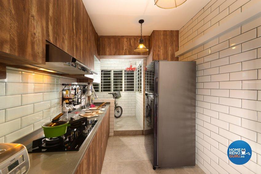 Industrial Design - Kitchen - HDB 4 Room - Design by Cad Associates ID Pte Ltd