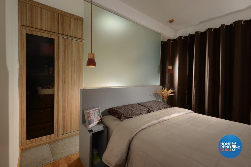 Industrial Design - Bedroom - HDB 4 Room - Design by Cad Associates ID Pte Ltd