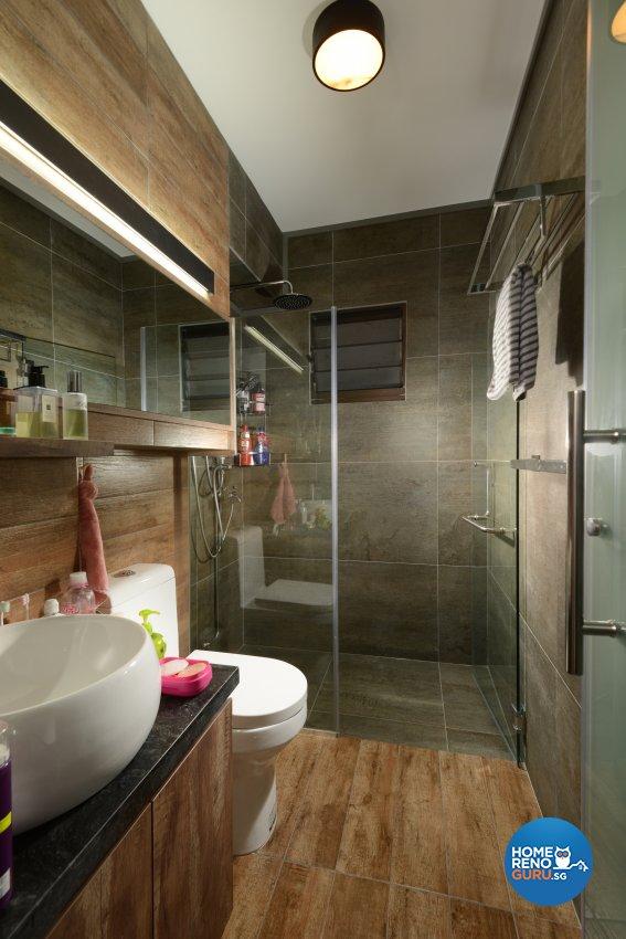 Industrial Design - Bathroom - HDB 4 Room - Design by Cad Associates ID Pte Ltd