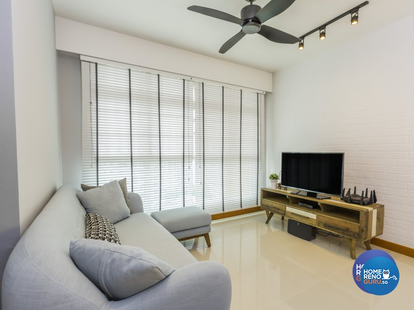 Contemporary, Modern Design - Living Room - HDB 4 Room - Design by Cad Associates ID Pte Ltd