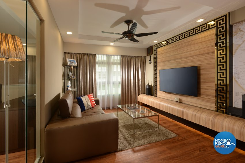 Contemporary, Modern, Resort Design - Living Room - HDB 5 Room - Design by Cad Associates ID Pte Ltd