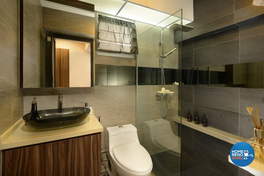 Contemporary, Modern, Resort Design - Bathroom - HDB 5 Room - Design by Cad Associates ID Pte Ltd