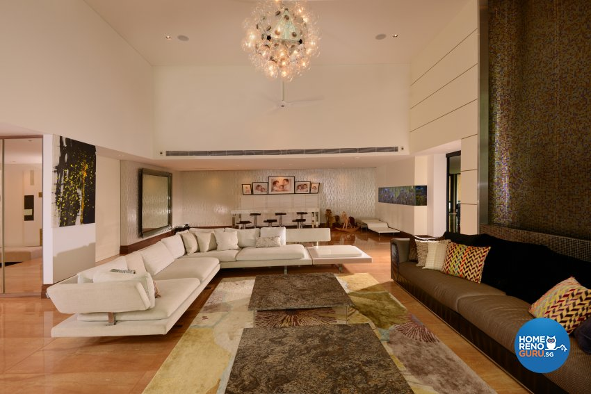 Contemporary Design - Living Room - Landed House - Design by Cad Associates ID Pte Ltd