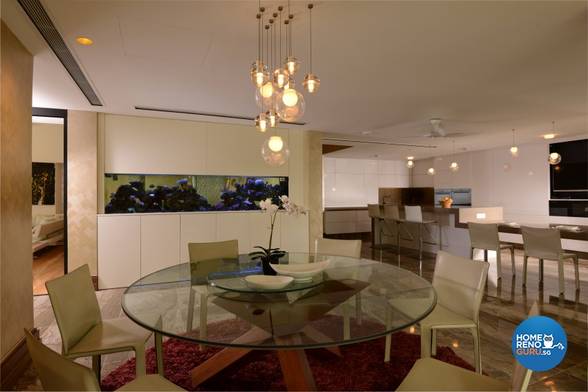 Contemporary Design - Dining Room - Landed House - Design by Cad Associates ID Pte Ltd
