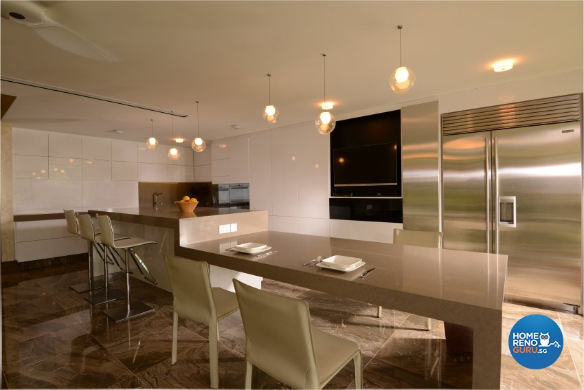 Contemporary Design - Kitchen - Landed House - Design by Cad Associates ID Pte Ltd