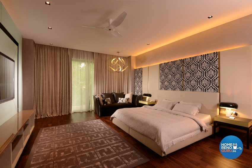 Contemporary Design - Bedroom - Landed House - Design by Cad Associates ID Pte Ltd