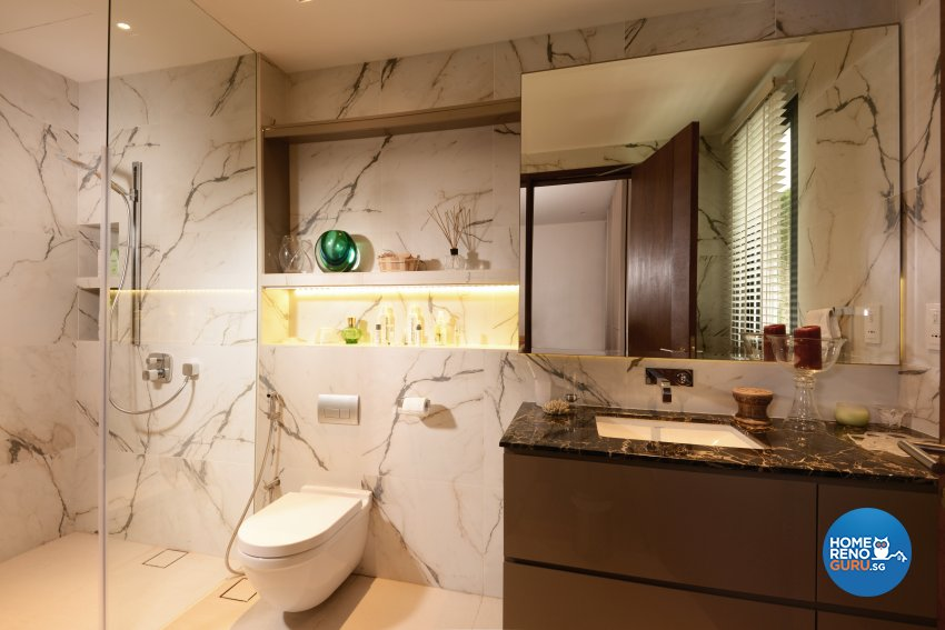 Contemporary Design - Bathroom - Landed House - Design by Cad Associates ID Pte Ltd