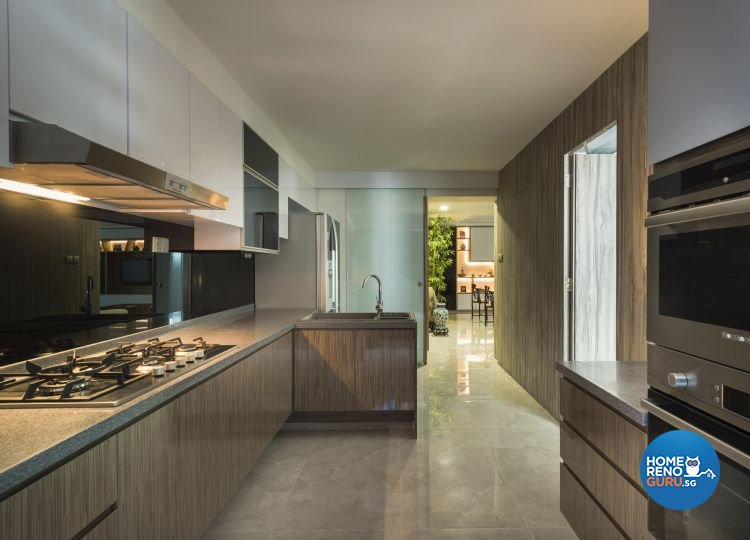 Classical, Modern Design - Kitchen - HDB 5 Room - Design by Calybur Interior Design Pte Ltd