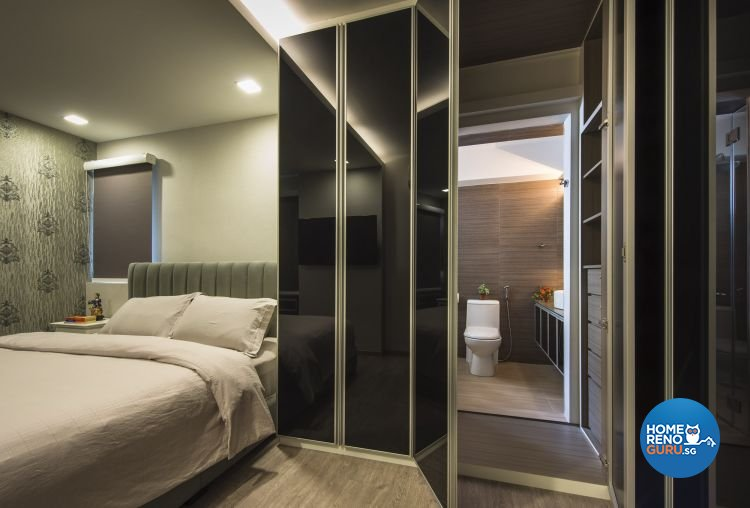Classical, Modern Design - Bedroom - HDB 5 Room - Design by Calybur Interior Design Pte Ltd