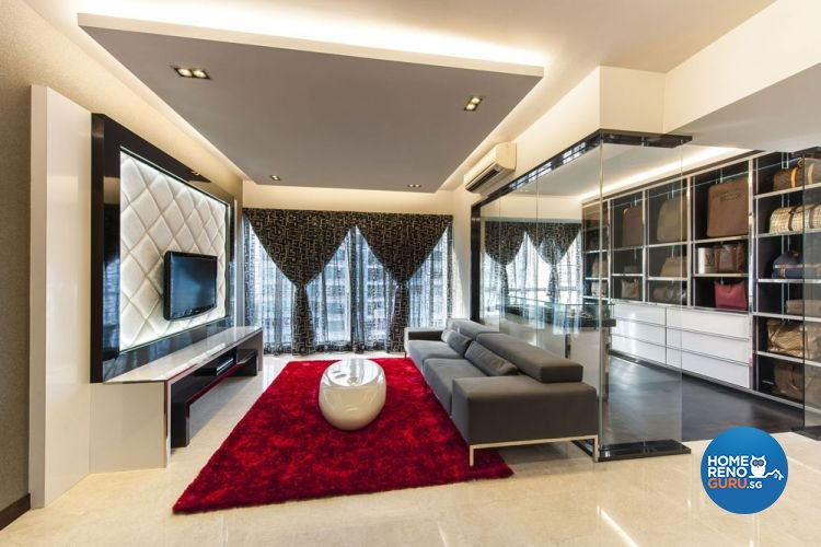 Classical, Contemporary, Eclectic Design - Living Room - Condominium - Design by Calybur Interior Design Pte Ltd