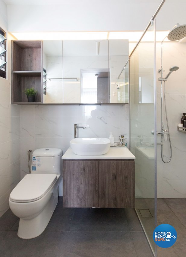 Minimalist Design - Bathroom - HDB 5 Room - Design by Carpenters 匠