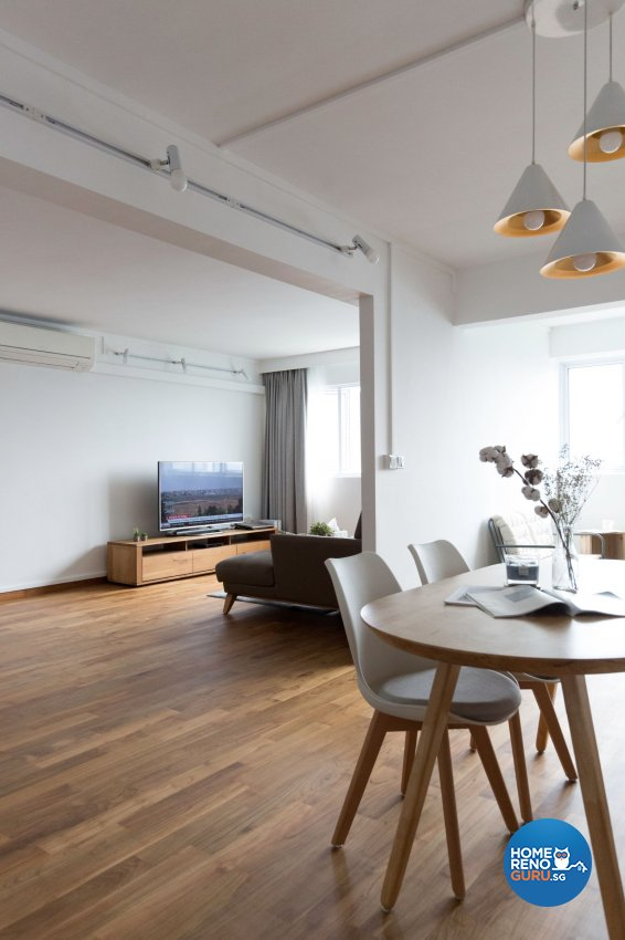 Minimalist Design - Living Room - HDB 5 Room - Design by Carpenters 匠