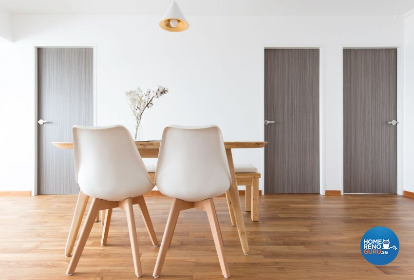 Minimalist Design - Dining Room - HDB 5 Room - Design by Carpenters 匠