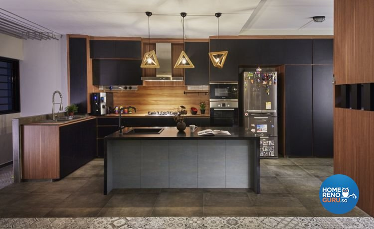 Industrial, Minimalist, Scandinavian Design - Kitchen - HDB 5 Room - Design by Carpenters 匠