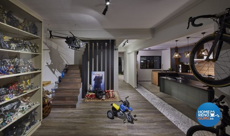Industrial, Minimalist, Scandinavian Design - Living Room - HDB 5 Room - Design by Carpenters 匠