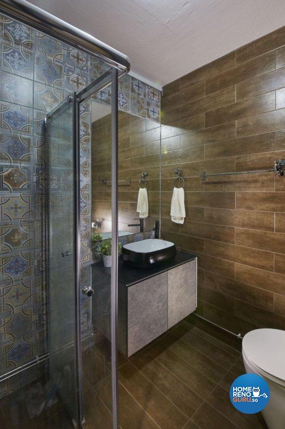 Industrial, Minimalist, Scandinavian Design - Bathroom - HDB 5 Room - Design by Carpenters 匠