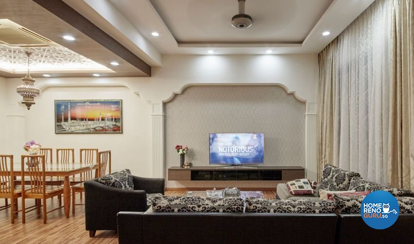 Contemporary, Mediterranean, Modern Design - Living Room - Landed House - Design by Carpenters 匠