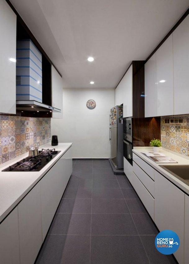 Contemporary, Mediterranean, Modern Design - Kitchen - Landed House - Design by Carpenters 匠