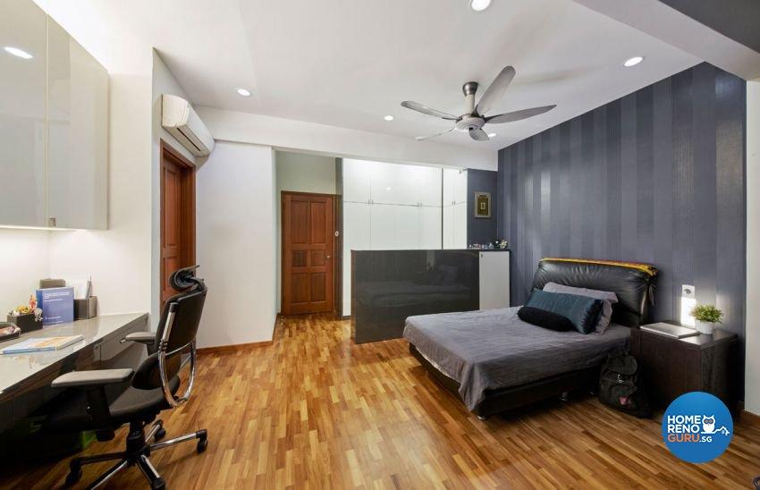 Contemporary, Mediterranean, Modern Design - Bedroom - Landed House - Design by Carpenters 匠