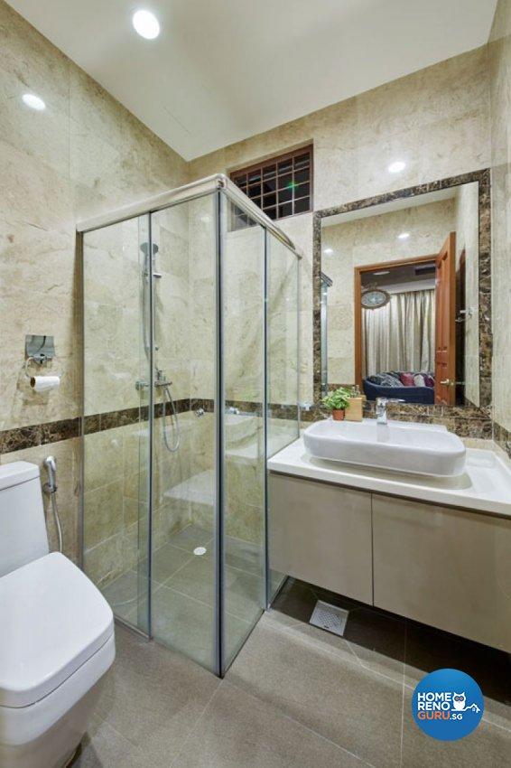 Contemporary, Mediterranean, Modern Design - Bathroom - Landed House - Design by Carpenters 匠