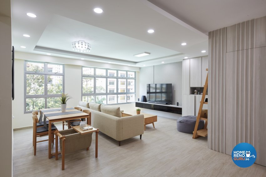 Minimalist, Scandinavian Design - Living Room - HDB 4 Room - Design by Carpenters 匠