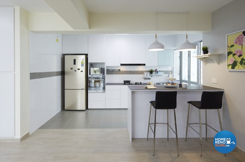 Minimalist, Scandinavian Design - Kitchen - HDB 4 Room - Design by Carpenters 匠