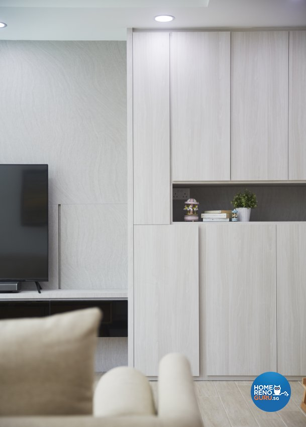 Minimalist, Scandinavian Design - Living Room - HDB 4 Room - Design by Carpenters 匠