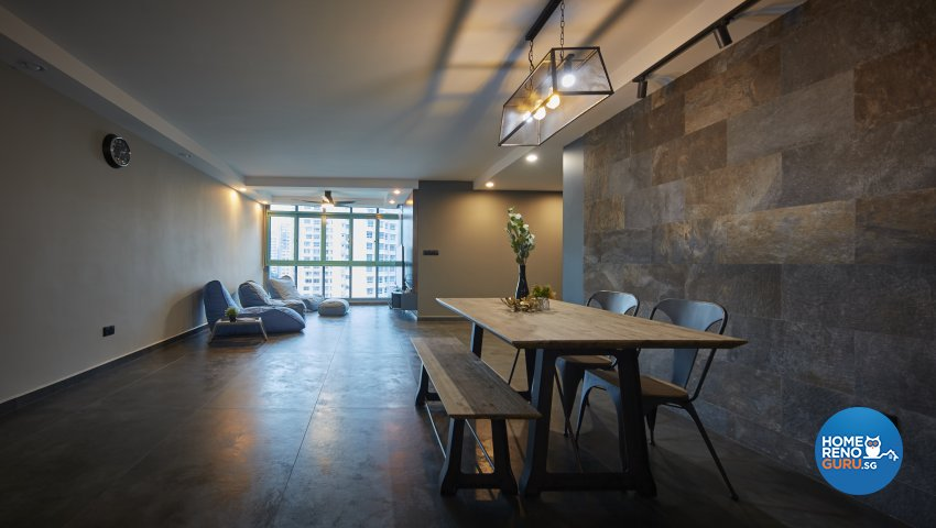 Eclectic, Industrial Design - Living Room - HDB 5 Room - Design by Carpenters 匠