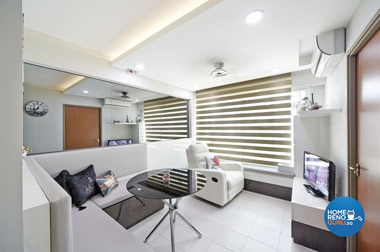 Contemporary, Modern Design - Living Room - HDB 3 Room - Design by Carpenters 匠