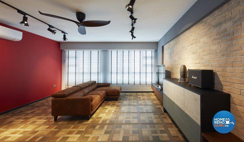 Eclectic, Rustic, Scandinavian Design - Living Room - HDB 4 Room - Design by Carpenters 匠