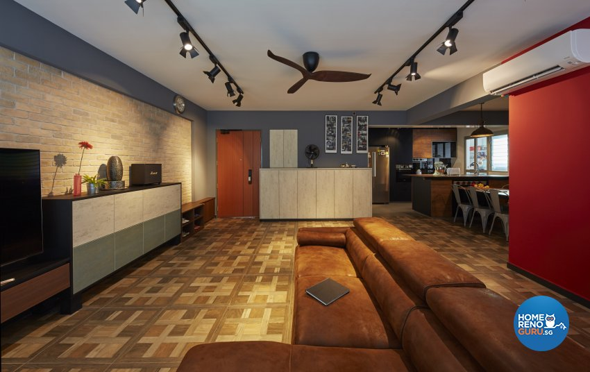 Eclectic, Rustic, Scandinavian Design - Living Room - HDB 4 Room - Design by Carpenters 匠