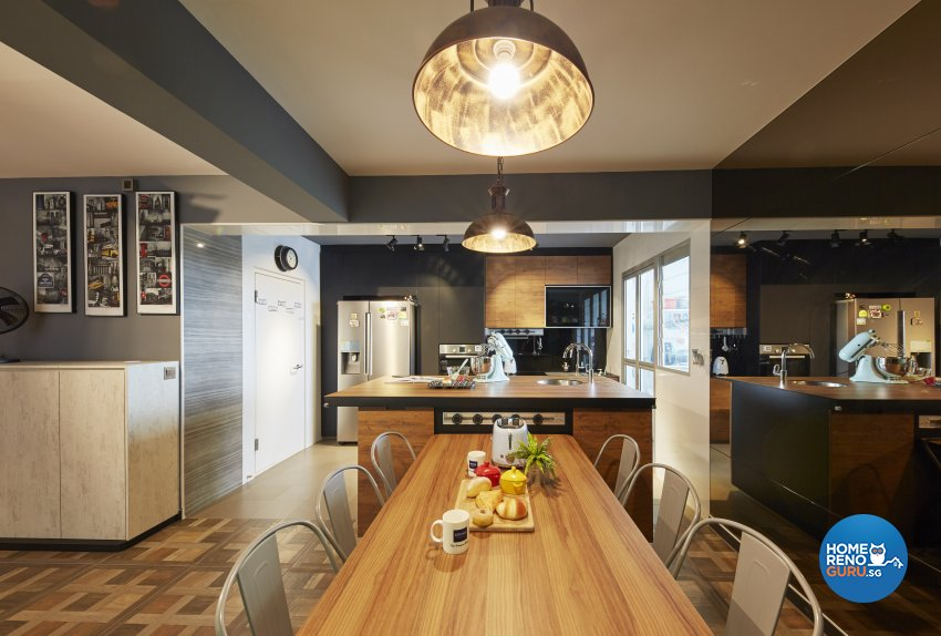 Eclectic, Rustic, Scandinavian Design - Kitchen - HDB 4 Room - Design by Carpenters 匠