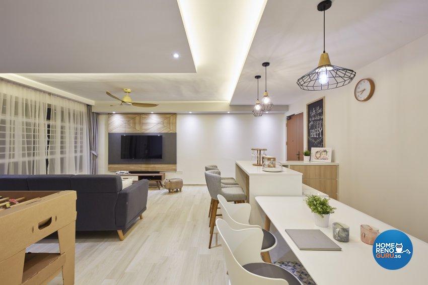 Modern, Rustic, Scandinavian Design - Dining Room - HDB 4 Room - Design by Carpenters 匠