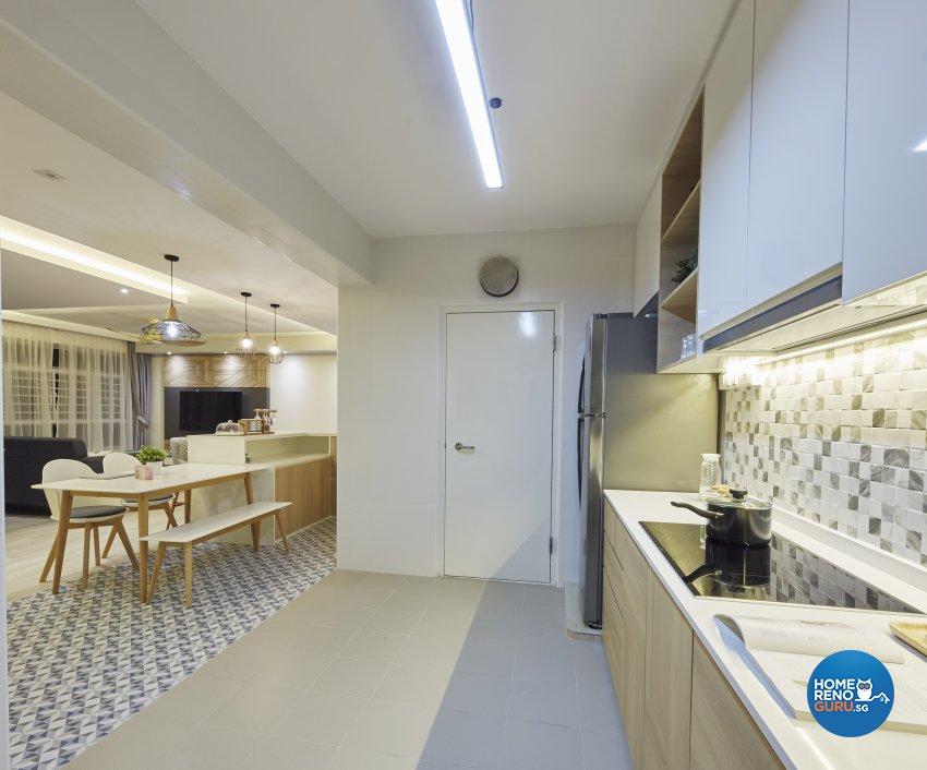 Modern, Rustic, Scandinavian Design - Kitchen - HDB 4 Room - Design by Carpenters 匠
